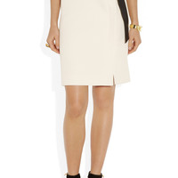 Lanvin | Bow-embellished piqué pencil skirt | NET-A-PORTER.COM
