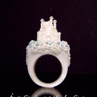 $319.00 Fantasy Castle Ring by InArtStudio on Etsy