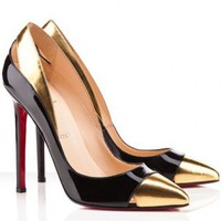 Christian Louboutin Duvette 120mm Patent Leather Pumps Black