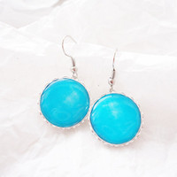 Blue sweet lollipop candy earrings - Spring Collection