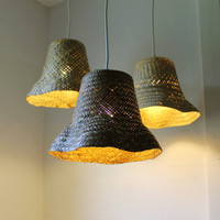 Basket Case - upcycled wicker basket hanging pendant lighting fixture - repurposed woven rattan planter lamp - OOAK BootsNGus design