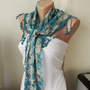 NEW 2012 Spring Model Two side blue and cream Scarf from by Periay
