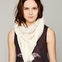 Free People Pieced Lace Scarf