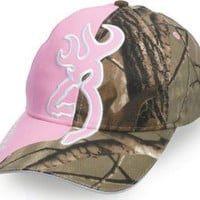 Amazon.com: BROWNING 308204212 BALL CAP W/LARGE BUCKMARK 1/2 PINK & 1/2 REALTREE AP CAMO HAT: Sports & Outdoors