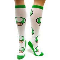 Amazon.com: Nintendo Juniors Knee-High Socks: Clothing