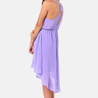 Couldn&#x27;t Be Strappier Lavender High-Low Dress