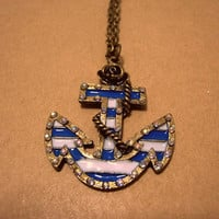 Nautical Anchor Necklace by Bitsofbling on Etsy