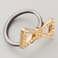 Marc by Marc Jacobs Annabelle Sparkle Pave Bow Ring | SHOPBOP