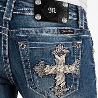Miss Me Stone Cross Boot Stretch Jean - Women's Jeans | Buckle