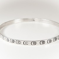 Solid Sterling Silver Skull Band - WOMENS