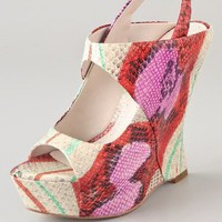 Alice + Olivia Delilah Print Wedge Sandals | SHOPBOP