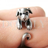 Miniature Puppy Dog Ring in Silver Sizes 5 to 9 available | dotoly - Jewelry on ArtFire