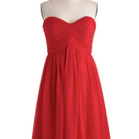 Flirting With the Idea Dress in Poppy | Mod Retro Vintage Dresses | ModCloth.com