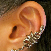 Bronze Snake Ear Cuff