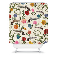 DENY Designs Home Accessories | Belle13 Sweet Guns And Roses Shower Curtain