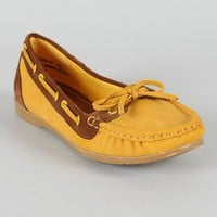 Bamboo Perera-02 Boat Lace Up Moccasin Flat
