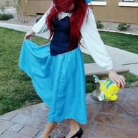 Personal Listing: Ariel The Little Mermaid Adult Town Kiss The Girl Dress Cosplay
