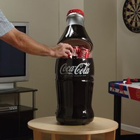 Coca-Cola 15-Can-Capacity Bottle-Shaped Fridge