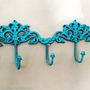 Hook Wall Hanger Blue Rack Jewelry Key Holder by AquaXpressions