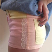 Pastel colour and Lace Shorts from WednesdaysHope