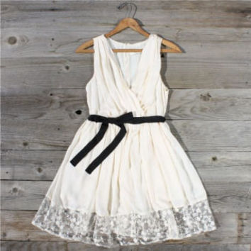 Gathered Chiffon Dress, Sweet Women's Country Clothing