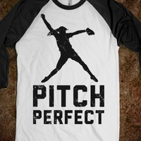 Softball Pitch Perfect (Baseball Tee) - Sports Girl - Skreened T-shirts, Organic Shirts, Hoodies, Kids Tees, Baby One-Pieces and Tote Bags