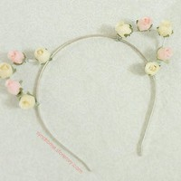 SYNDROME | Flower Kitty Ears Headband | Online Store Powered by Storenvy