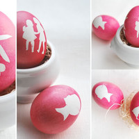 Silhouette Easter Eggs | Le Papier Blog