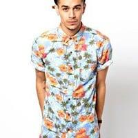 Deus Ex Machina Shirt Belbin Short Sleeve Hawaiian Print at asos.com