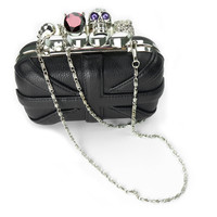 Union Jack Shaped Skeleton Hard Shell Clutch — Faboutique