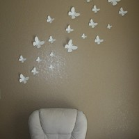 3D Butterfly Wall Decor Available in Any Color by EmbellishedPaper