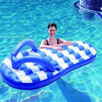 Polygroup Marine Flip Flop Inflatable Pool Float, Blue, 71&quot;