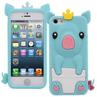 3D Piggie Princess iPhone 5 Silicone Case from BeeJoo