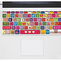 Love Keyboard Decal   Apple Mac Keyboard Decal Mac by AmusingDecal