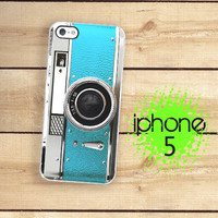 IPhone 5 Case - Blue Aqua Teal Retro Camera Vintage Style