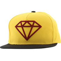 Diamond Supply Co Rock Logo Snapback Cap (yellow / red / black) Caps ROCKLOGOYLRD | PickYourShoes.com