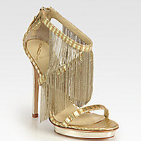 B Brian Atwood - Cassiane Chain Fringe Platform Sandals - Saks Fifth Avenue Mobile