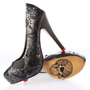 Amazon.com: Iron Fist,womens Sweet Skull of Mine Platform,charcoal,sz 9: Shoes