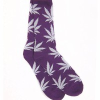 Huf Plantlife Socks - Purple / White