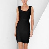 Herve Leger black u-neck dress - &amp;#36;207.00