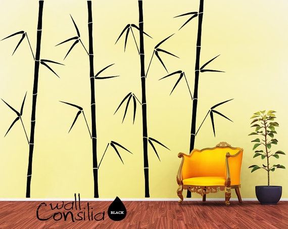 Bamboo Trees Decal Tree Wall Decal Wall Sticker by WallConsilia