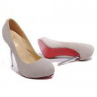 Christian Louboutin Big Lips 120mm Suede Pumps Gray