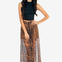 Jungle Fever Maxi Skirt $23