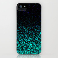 Mint Sparkle iPhone Case by MN Art - (NOT REAL GLITTER/SPARKLES) - For iPhone 3G, 3GS, 4, 4S, and 5