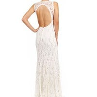 Destinee-Ivory Lace Prom Dress
