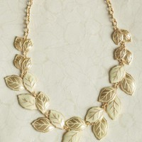 new day leaf necklace at ShopRuche.com