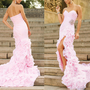 Elegant beading long-train evening dress/wedding dress from Your Closets
