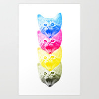 CMYKat Art Print by Alix M. Peck