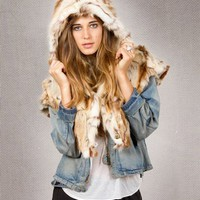 Spirit Hoods Jack Rabbit Holiday Collection Shawl