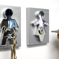 His &amp; Hers Keyholders by Jaime &amp; Mark Antoniades for J-Me - Free Shipping